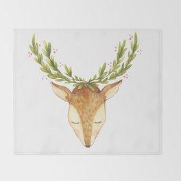 Deer Head Throw Blanket