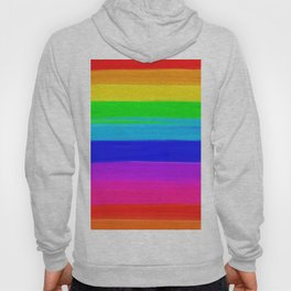 Modern rainbow brushstrokes paint striped pattern Hoody