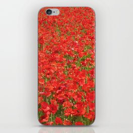 A field of red poppies iPhone Skin