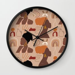 African abstract seamless pattern Wall Clock