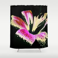lily Shower Curtains featuring Lily by Vitta