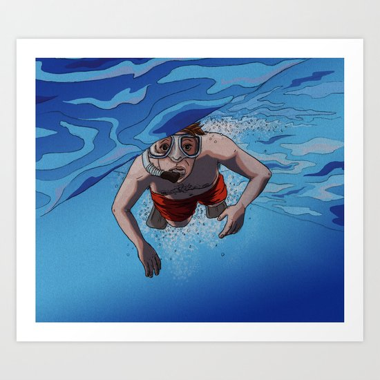 The Snorkeler Art Print