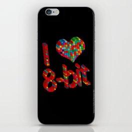 i heart 8-bit iPhone Skin