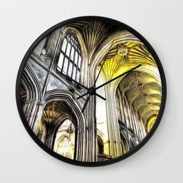 Bath Abbey Art Wall Clock