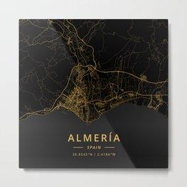 Almeria, Spain - Gold Metal Print