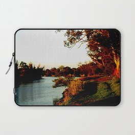 Sunsets on the river bank gum Trees Laptop Sleeve