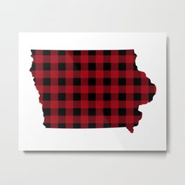 Iowa - Buffalo Plaid Metal Print