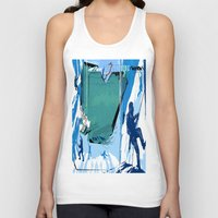 climbing Tank Tops featuring Ice Climbing by Robin Curtiss