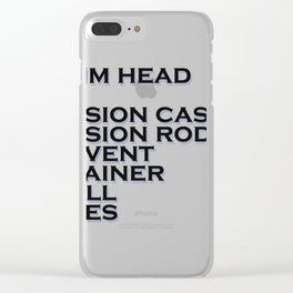 Drum Terminology Clear iPhone Case