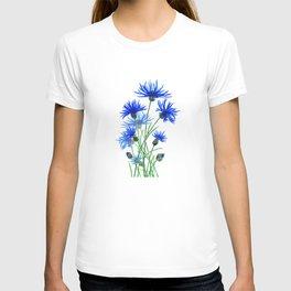 blue cornflower T-shirt