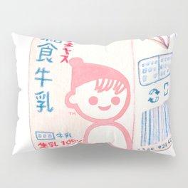 School Lunch Milk Pillow Sham