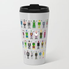 Pixel Supervillain Alphabet Travel Mug