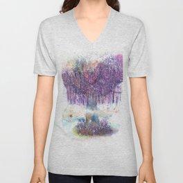 Mystical Tree Illustration Unisex V-Neck