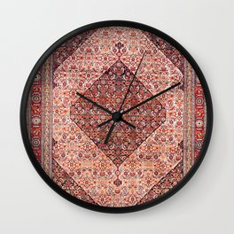 Sehna Kurdish Northwest Persian Rug Print Wall Clock