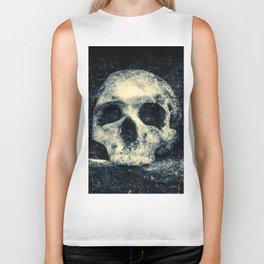 Old Skull - Memento Halloween Biker Tank