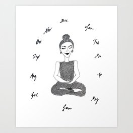 Meditation Through the Year Art Print