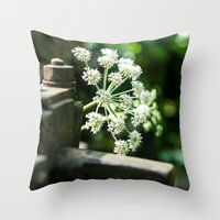 lace Throw Pillows featuring Lace by Candace Fowler Ink&Co.