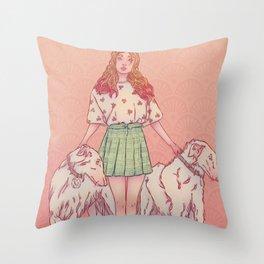 Signe du chien Throw Pillow