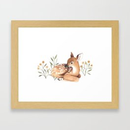 Meadow and Fawn Framed Art Print