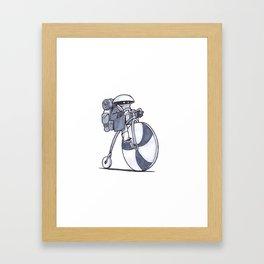 Courier Kid Framed Art Print