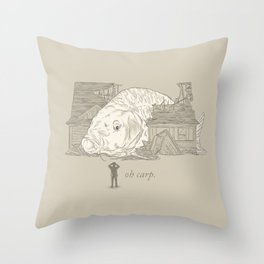 Oh carp. Throw Pillow