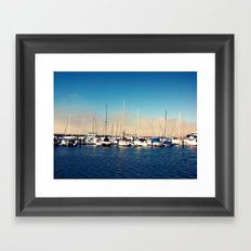 Boats in the Bay Framed Art Print