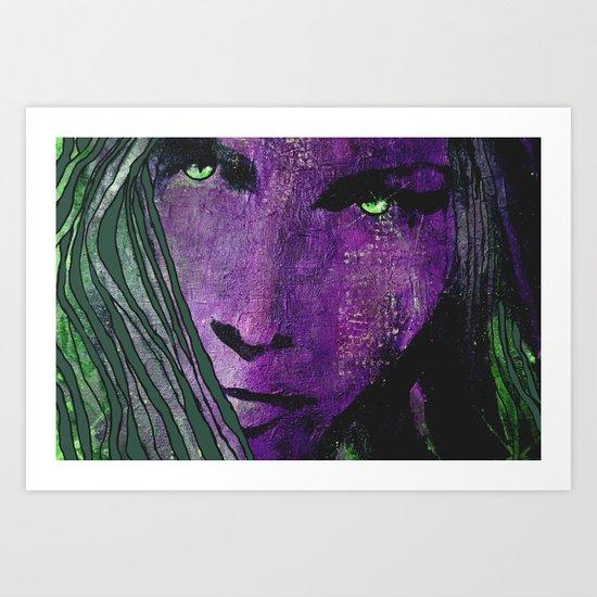 green eyes Art Print