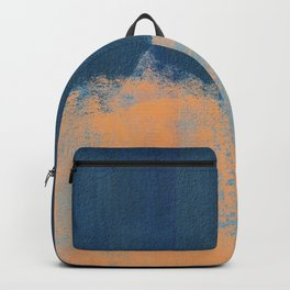 Summer Beach Abstract Orange Blue #painting #decor #society6 Backpack