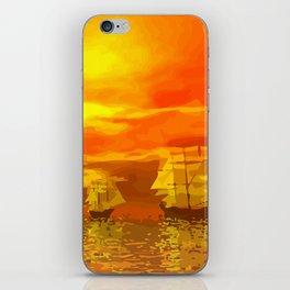 Segelschiffe im Sonnenschein iPhone Skin