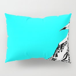 Minty Magpie Pillow Sham