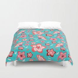 Exotic Flowermix Duvet Cover