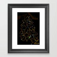Skiphabet Framed Art Print