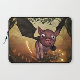 Funny little piglet with wings Laptop Sleeve
