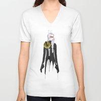 clockwork V-neck T-shirts featuring Clockwork by SEVENTRAPS