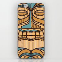 tiki iPhone & iPod Skins featuring Tiki by Brad Hansen