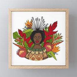 UrbanNesian Floral Fijian Queen Framed Mini Art Print