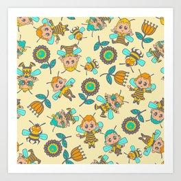 Bay Bees 1 Art Print