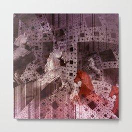 illusions in Menger's Sponge Metal Print