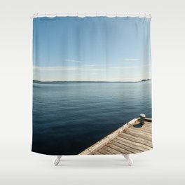Sunny Day at the Dock | Koli, Finland Shower Curtain