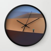 dune Wall Clocks featuring Dune by Sean Higgins