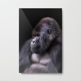 Mountain Gorilla Metal Print