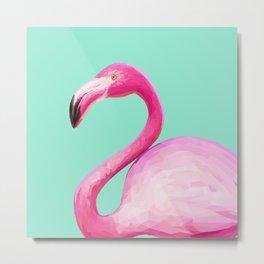Flamingo Baby Metal Print