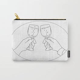 Hands With Wine Glass Toasting Drawing Carry-All Pouch