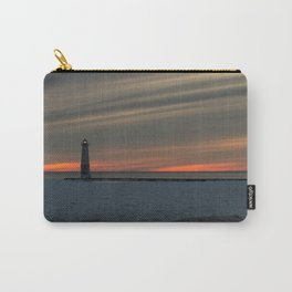 Sunset in Manistee North Pierhead lighthouse Carry-All Pouch