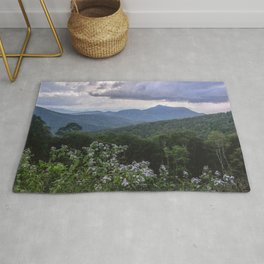 Smoky Mountain Wildflower Adventure - Nature Photography Rug