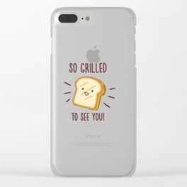 Cheesy Greetings! Clear iPhone Case