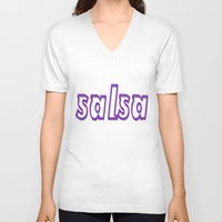 puerto rico V-neck T-shirts featuring Salsa Puerto Rico by Salsa Republic