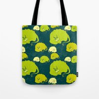 dragons Tote Bags featuring dragons by lisenok