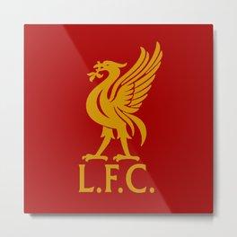 LFC Red Gold Logo Metal Print