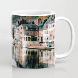 VILLAGE - HOUSE - RIVER - REFLECTION - PHOTOGRAPHY Coffee Mug